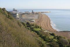 Frente marítima em Folkestone. Kent. Inglaterra fotos de stock