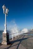 Frente marítima em Gijon Fotos de Stock Royalty Free