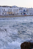 Frente marítima em Naoussa, Paros imagens de stock royalty free