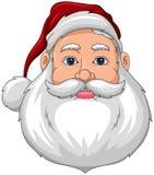 Frente sonriente de la cara de Santa Imagen de archivo libre de regalías