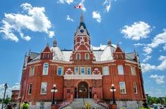 Frente Veiw del ayuntamiento Imágenes de archivo libres de regalías