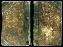 Frente y parte posterior ásperos de la cubierta de libro de la vendimia imagen de archivo
