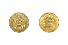 Frente y parte posterior de la moneda de Mónaco Le Palais Princier 2011 Imágenes de archivo libres de regalías