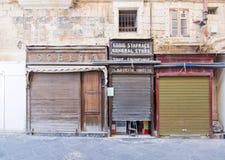 Frentes de la tienda del vintage Fotografía de archivo libre de regalías