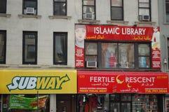 Frentes del almacén de New York City Imágenes de archivo libres de regalías