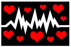 Frequência cardíaca Foto de Stock Royalty Free