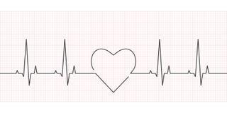 Frequência cardíaca, cardiograma e conceito do ECG ilustração do vetor