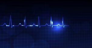Frequência cardíaca colorida video estoque