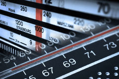 Frequências de rádio do afinador Imagem de Stock Royalty Free