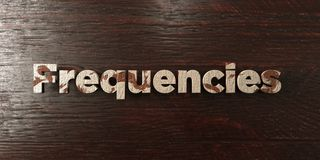 Frequencies - grungy wooden headline on Maple  - 3D rendered royalty free stock image Stock Photography