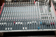 Frequency mixer. Sound and music Royalty Free Stock Photo