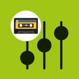 Frequency music cassette tape Royalty Free Stock Images