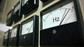 Frequency scale meter. A group of Frequency scale meter stock image