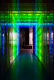 Frequency spectre: green to blue. Audio and color frequency spectre shown in colors Royalty Free Stock Image