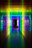Frequency spectre: yellow to violet. Audio and color frequency spectre shown in colors Royalty Free Stock Photography