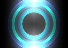 Frequency wave circle abstract background Stock Photo