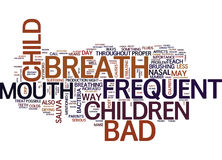 Frequent Bad Breath In Children Word Cloud Concept Stock Image