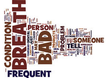 Frequent Bad Breath Text Background Word Cloud Concept Stock Images