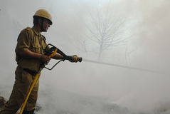Frequent fire at slums of Kolkata Stock Image