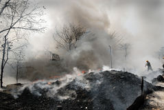 Frequent fire at slums of Kolkata Royalty Free Stock Photography