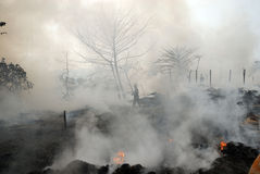 Frequent fire at slums of Kolkata Stock Photos