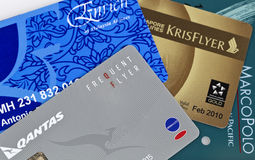 Frequent Flyer Card Collage Stock Photos