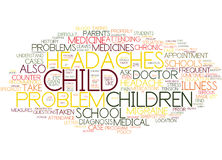 Frequent Headaches And Migraine In Children Word Cloud Concept Royalty Free Stock Photography