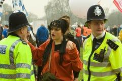 Frequentador da polícia e do partido fotografia de stock