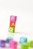 Frequente peça o FAQ da pergunta Imagens de Stock Royalty Free