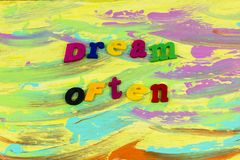 Frequentemente plástico ideal da ambição da aventura do sonhador ilustração royalty free