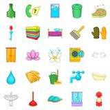 Frequenter icons set, cartoon style Stock Images