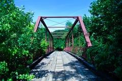 Frequentierte Brücke Stockfotografie
