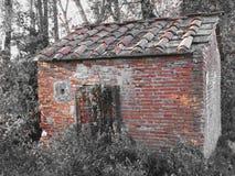 Frequentiertes Horrorhaus Altes Geisterhaus im Wald mit bösen Geistern lizenzfreies stockfoto