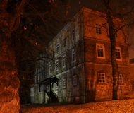 Frequentiertes Schloss Lizenzfreies Stockfoto