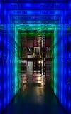 Frequentiespook: blauw aan groen Stock Fotografie