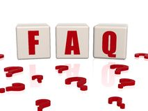 Frequently asked question Stock Photo