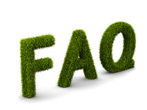 Frequently Asked Question covered grass Royalty Free Stock Photography