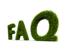 Frequently Asked Question covered grass Stock Photos
