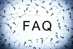 Frequently asked question. ( FAQ ) concept Royalty Free Stock Photography