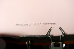 Frequently Asked Question Typing Royalty Free Stock Image