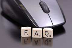 Frequently Asked Questions. (FAQ) With Mouse stock image