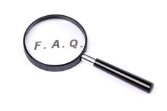 Frequently Asked Questions. Concept of FAQ royalty free stock photo