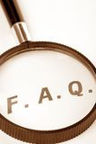 Frequently Asked Questions. Concept of FAQ royalty free stock photography
