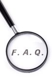 Frequently Asked Questions. Concept of FAQ stock images