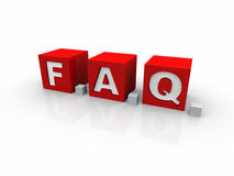 Frequently Asked Questions cube version Royalty Free Stock Image