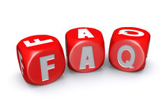 Frequently asked questions dices Royalty Free Stock Image