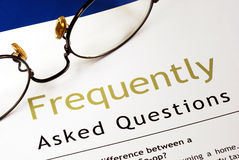 Frequently Asked Questions (FAQ) Royalty Free Stock Photo