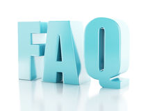 Frequently Asked Questions. FAQ concept. 3d illustration Stock Photos