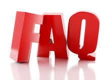 Frequently Asked Questions. FAQ concept. 3d illustration Stock Photography