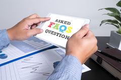 Frequently Asked Questions Faq Feedback Concept royalty free stock photos